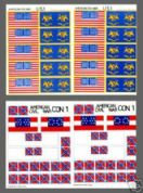 American Civil War 25mm Self Adhesive Flags